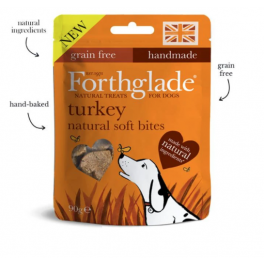 Forthglade Turkey Natural Soft Bites Grain Free Dog Treats 90g
