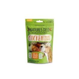 Natures Deli Chicken Wrapped Rawhide Knot Bone Dog Treats x6