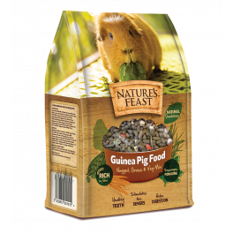 Natures Feast Guinea Pig Nuggets, Grass and Veg Mix 1.5kg