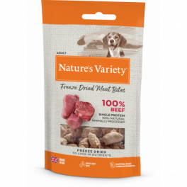 Natures Variety Beef Freeze Dried Meat Bites Dog Treats 20g