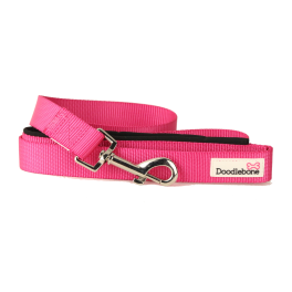 Doodlebone Neon Pink Padded Dog Lead