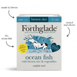 Forthglade Ocean Fish & Brown Rice Wet Adult Dog Food 395g