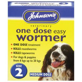 Johnson's One Dose Dog Wormer for Medium Dogs