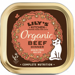 Lily's Kitchen Organic Beef Dinner Cat Food Tray 85g