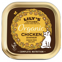 Lily's Kitchen Organic Chicken Dinner Cat Food Tray 85g