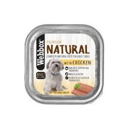 Webbox Premium Natural Pâté Adult Dog Food with Chicken 150g Tray