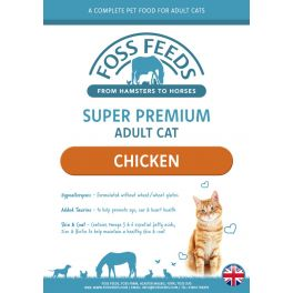 Foss Feeds Sample - Super Premium Chicken Adult Cat Food 100g