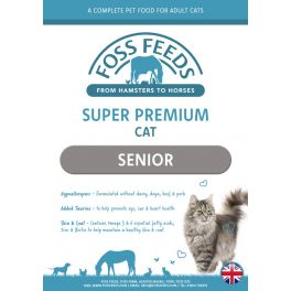 Foss Feeds Sample - Super Premium Chicken with Fish & Rice Senior Cat Food 100g