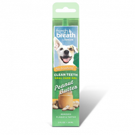 Tropiclean Fresh Breath Oral Care Gel Peanut Butter for Dogs 59ml