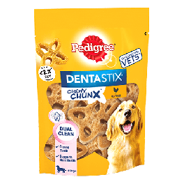Pedigree Dentastix Chewy Chunx Maxi Dog Treat Chicken Flavour 68g