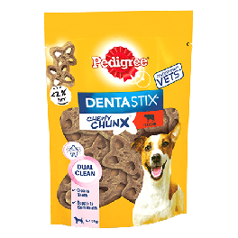 Pedigree Dentastix Chewy Chunx Mini Dog Treat Beef Flavour 68g