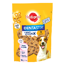 Pedigree Dentastix Chewy Chunx Mini Dog Treat Chicken Flavour 68g