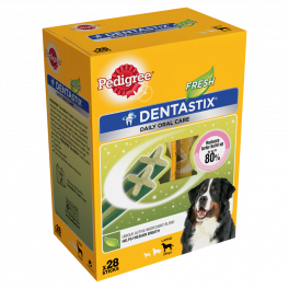 Pedigree Dentastix Daily Fresh Dog Treats 28 Sticks for Large Dogs
