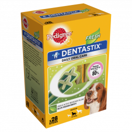 Pedigree Dentastix Daily Fresh Dog Treats 28 Sticks for Medium Dogs