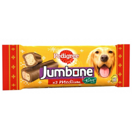 Pedigree Christmas Turkey Medium Jumbone 2 Pack Dog Treats 180g