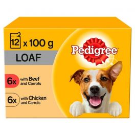 Pedigree Mixed Selection in Loaf Adult Wet Dog Food Pouches 12 x 100g
