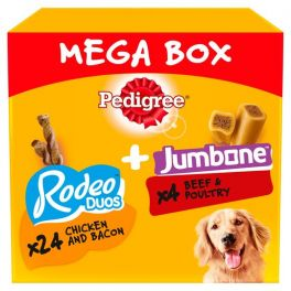 Pedigree Rodeo Duos and Jumbone Mega Box Dog Treats 740g