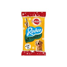 Pedigree Christmas Rodeo Turkey Flavour Dog Treats 7 Pack 123g