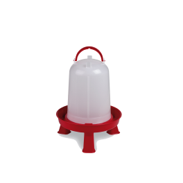 Plastic Red Poultry Drinker On Legs