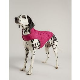 Joules Quilted Raspberry Pink Dog Coat
