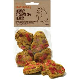 Rosewood Henny's Strawberry Hearts Poultry Treat 120g