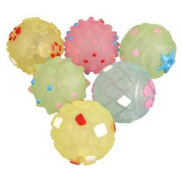 Rosewood 6 Puppy Pastel Balls Dog Toy