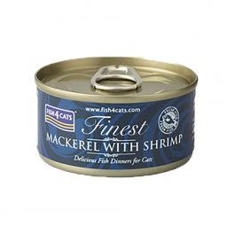 Fish4Cats Finest Mackerel with Shrimp Cat Food 70g
