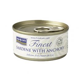 Fish4Cats Finest Sardine with Anchovy Cat Food 70g
