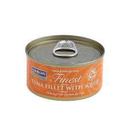 Fish4Cats Finest Tuna Fillet with Squid Cat Food 70g