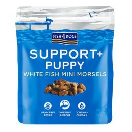 Fish4Dogs Puppy Support+ White Fish Mini Morsels Puppy Treats 150g