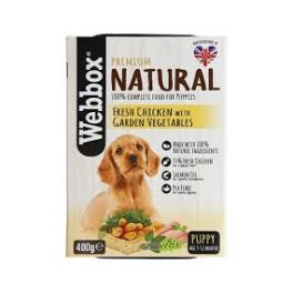Webbox Premium Natural Puppy Food with Chicken and Vegetables 400g