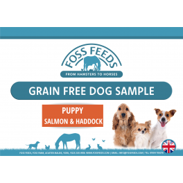 Foss Feeds Sample - Grain Free Salmon Puppy Food 100g