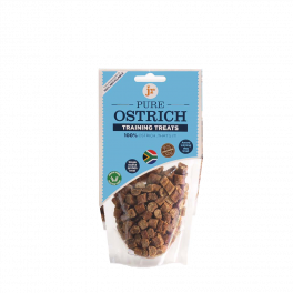 JR Pure Ostrich Training Dog Treats 85g