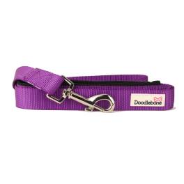 Doodlebone Purple Padded Dog Lead