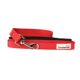 Doodlebone Red Padded Dog Lead