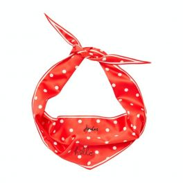Joules Hello Polka Red Spotted Neckerchief Dog Collar