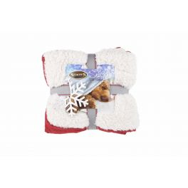 Scruffs Winter Wonderland Snuggle Pet Blanket Red
