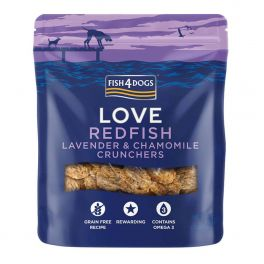 Fish4Dogs Love Redfish Lavender & Chamomile Crunchers Dog Treats 75g