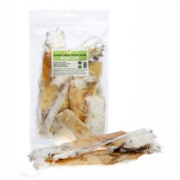 JR Rolled Rabbit Skin with Hair Dog Treat 100g