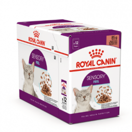 Royal Canin Sensory Feel in Gravy Wet Cat Food Pouches 12x85g