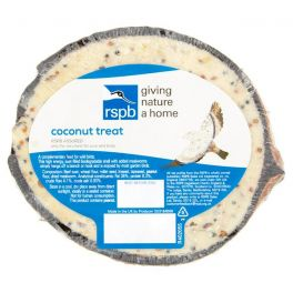 RSPB Suet Filled Half Coconut Wild Bird Treat