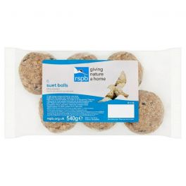 RSPB 6 Suet Balls No Nets Wild Bird Treats 540g