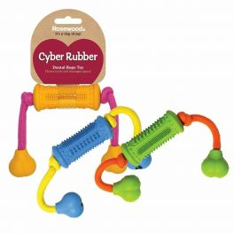 Rosewood Cyber Rubber Dental Rope Dog Toy