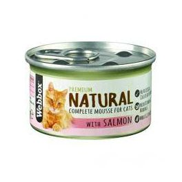Webbox Premium Natural Mousse Cat Food with Salmon 85g Tin