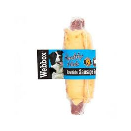 Webbox Premium Rawhide Sausage Roll Dog Treat