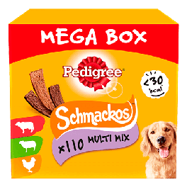 Pedigree Schmackos Multi Mix Mega Box 110 Pack Dog Treats