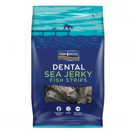 Fish4Dogs Dental Sea Jerky Fish Strips Dog Treats 100g