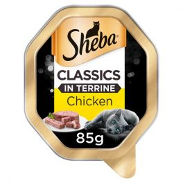 Sheba Adult Cat Food Tray Classics in Terrine with Chicken 85g