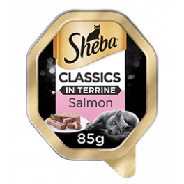 Sheba Classics in Terrine with Salmon Adult Wet Cat Food Tray 85g