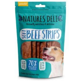 Natures Deli Soft Beef Strips Dog Treats 100g